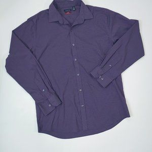Van Heusen Purple Pinstripe Dress Shirt Sz.Lg